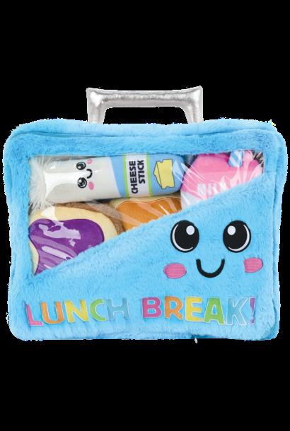 Lunch Break! Furry and Fleece Pillow