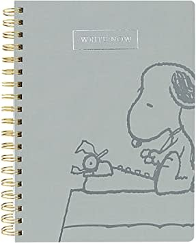 Write Now Snoopy Journal Gray-1