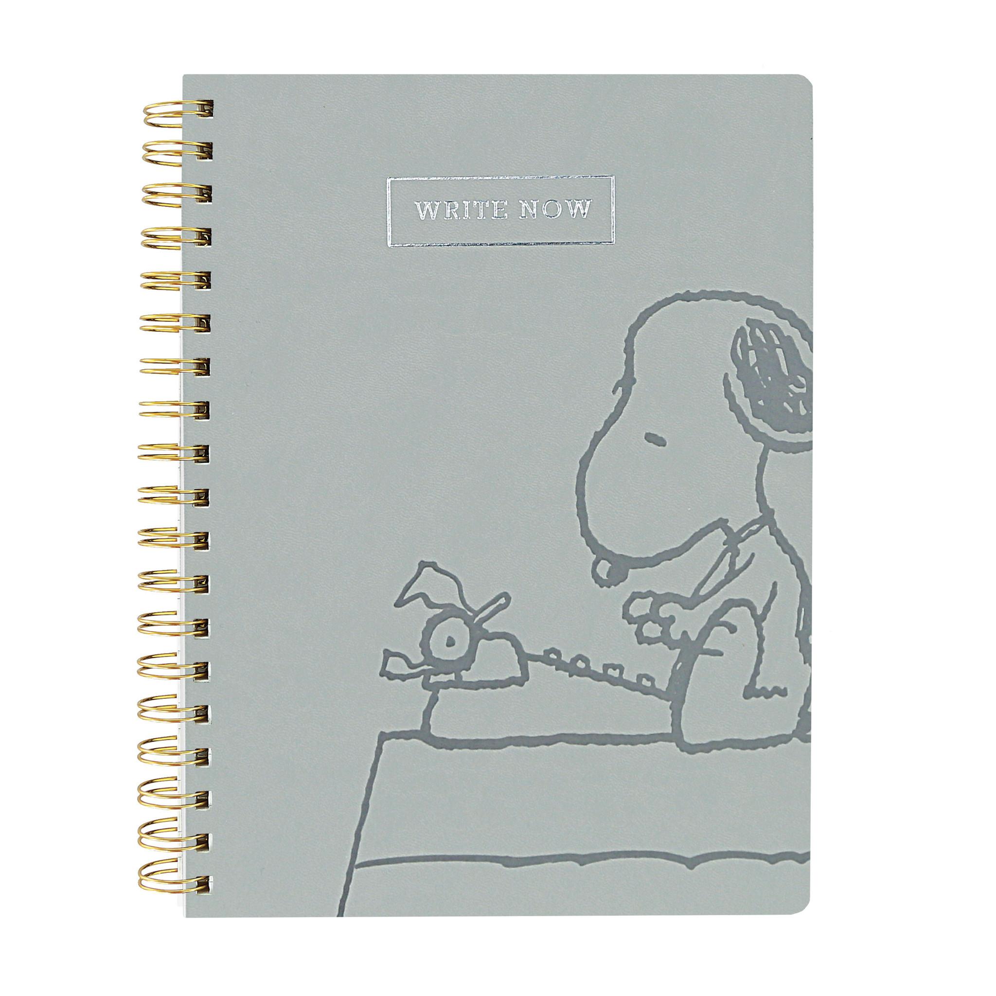 Write Now Snoopy Journal Gray-2