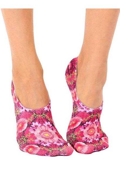 No-Show Liner Socks Pink Snakeskin