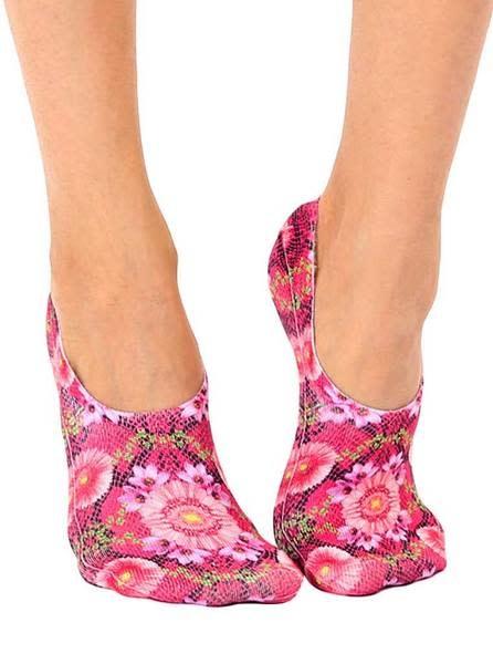 No-Show Liner Socks Pink Snakeskin-1