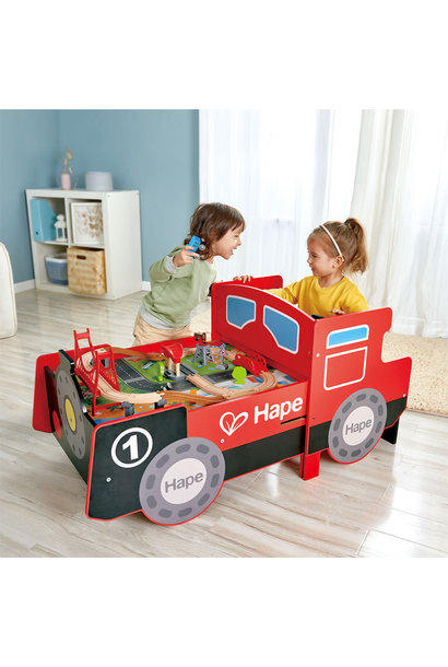 Hape Ride On and Foldable Train Play Table