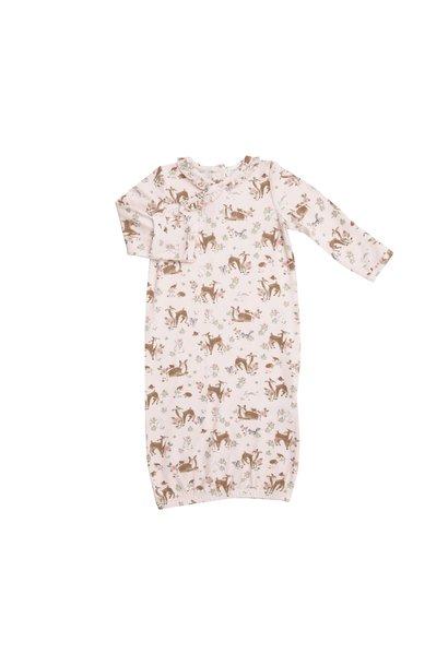 AD Kimono Gown Set Woodland Animals/Pink  0 - 3M