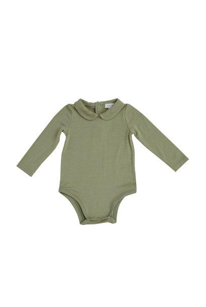 AD Peter Pan Collar Bodysuit Green