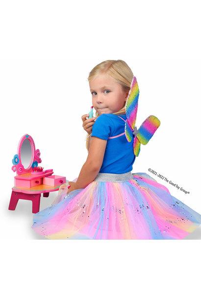 Rainbow Sequins Skirt Wings & Wand 4-6