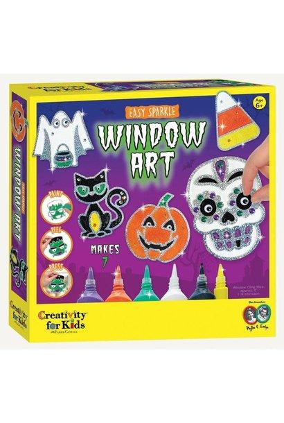 Easy Sparkle Halloween Window Art