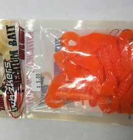 Whizkers Premium Soft And Chewy Bait Orange Twin Tail