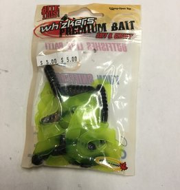 Whizkers Premium Soft And Chewy Bait Black Chart Twin Tails