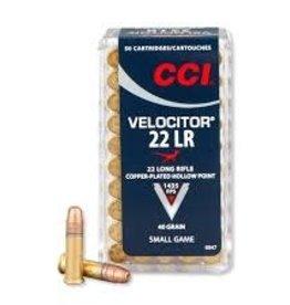 CCI Velocitor 22 LR 40 Grain