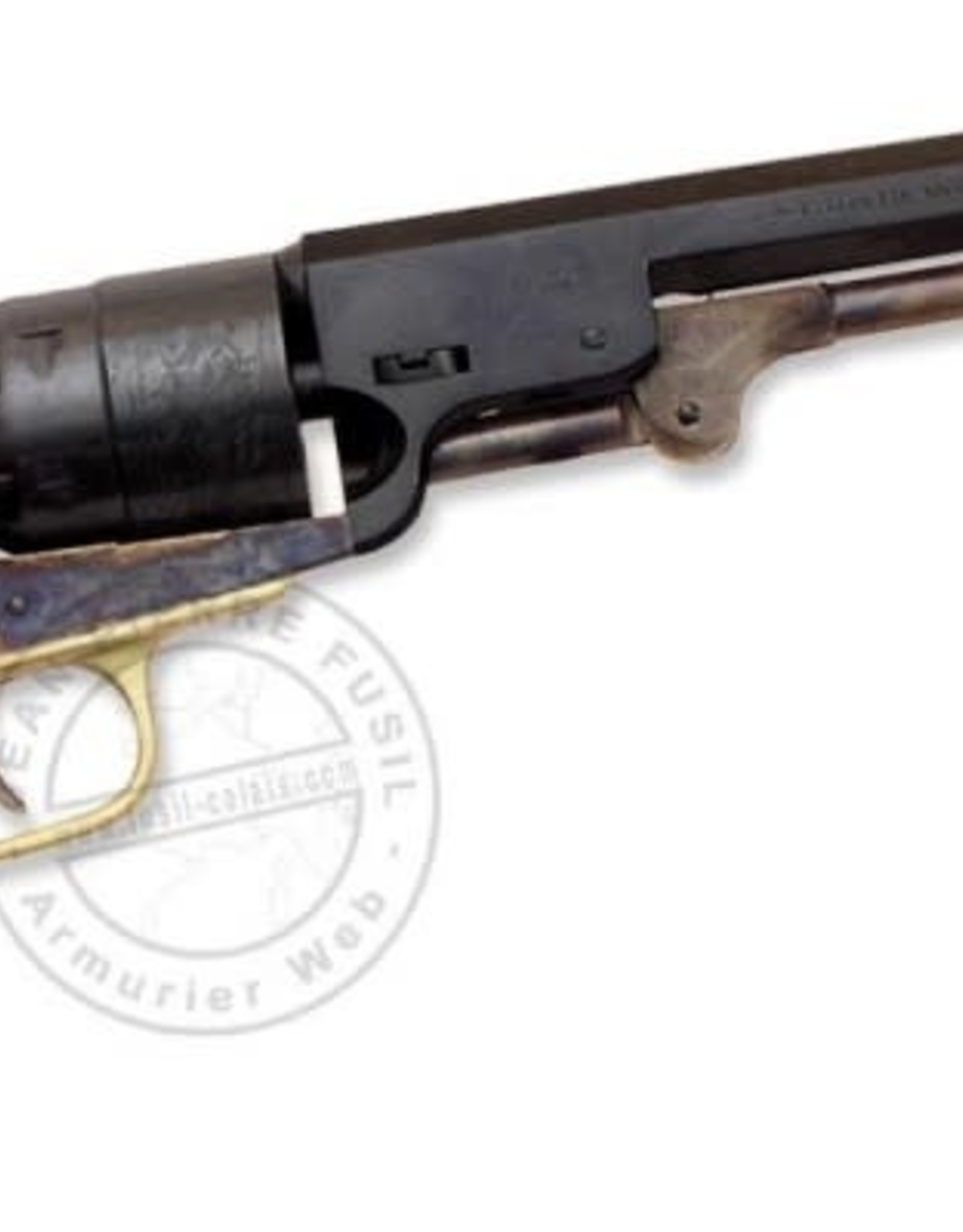 Traditions 1851 Navy Revolver .44 Cal 7.5 Blue Barrel Steel Frame- Walnut Grip