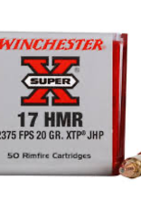 Winchester 17 HMR 20GR 2375 FPS JACKETED HOLLOW POINT