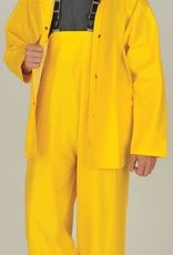 100% Waterproof 3-Piece Rainsuit Yellow Large