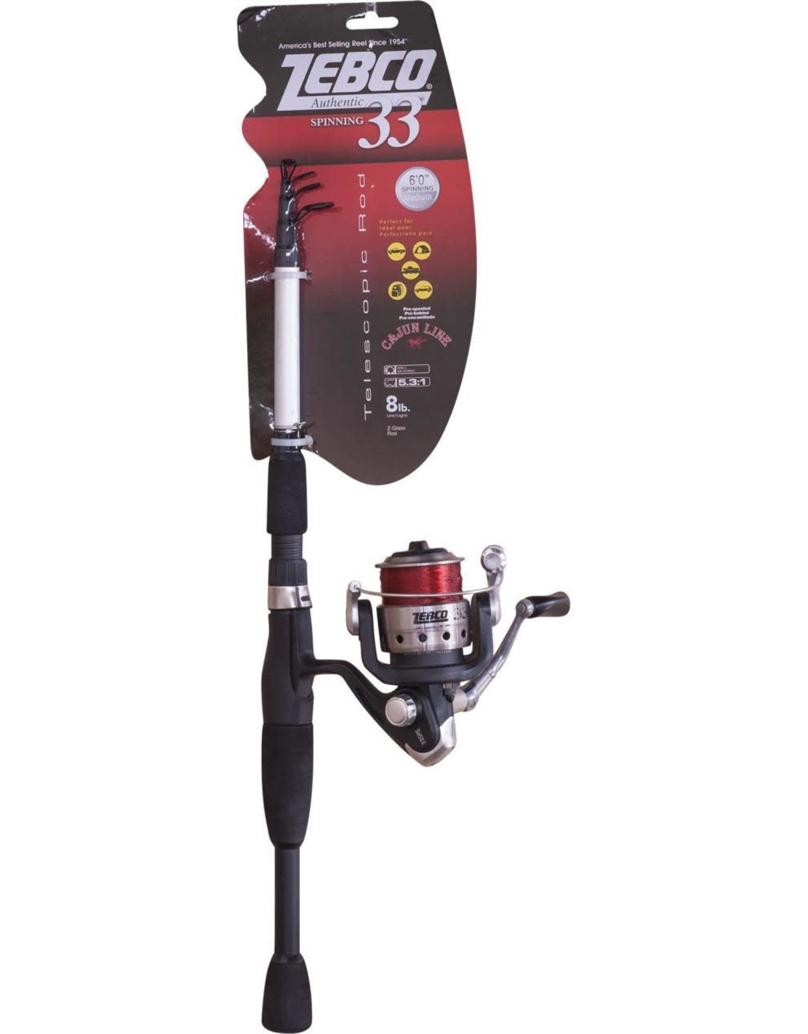 Zebco 33 Telescopic Combo 6' Medium