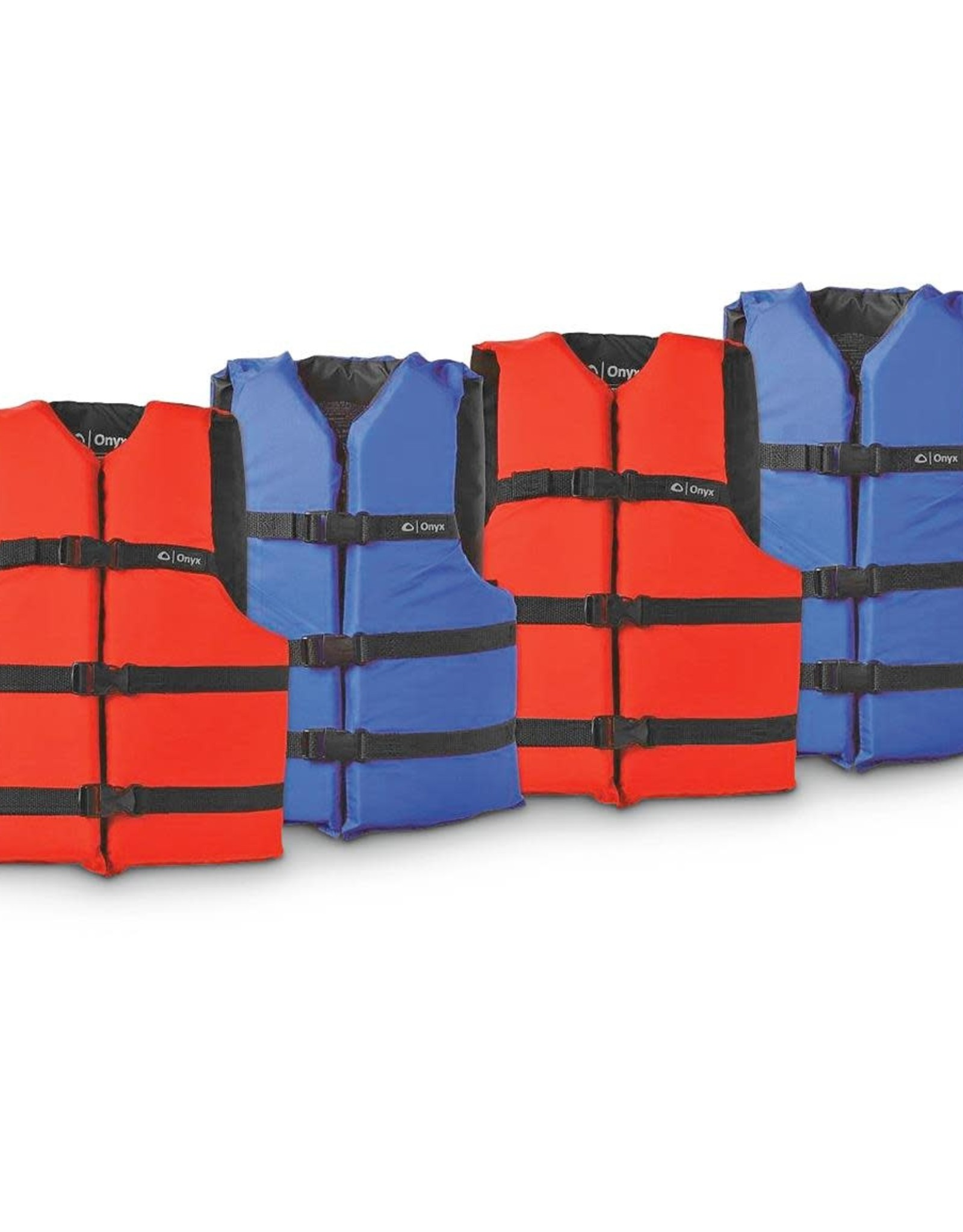 """Onyx Adult Universal Life Jacket Chest Size 30-52"""" Red"""