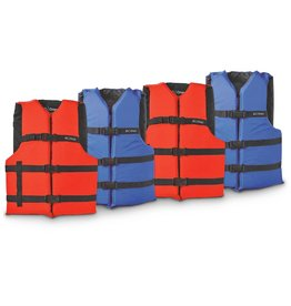 "Onyx Adult Universal Life Jacket Chest Size 30-52"" Red"