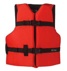 Onyx Youth Life Jacket 59-90 Lbs Red
