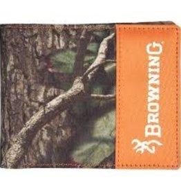 Browning Camo/ Orange Bi Fold Field Wallet