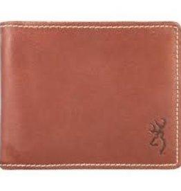 Browning Brown Leather Bi Fold Wallet