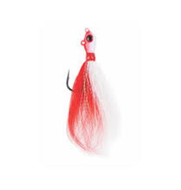 Mustad 1oz Big Eye Buck Tail Jig Red/White