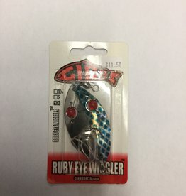 American Fishing Lures Red Eye Wiggler #3 Blue Scale