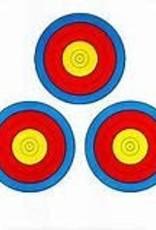 Golden Arrow 3 Spot Poster Targets 250 Pack