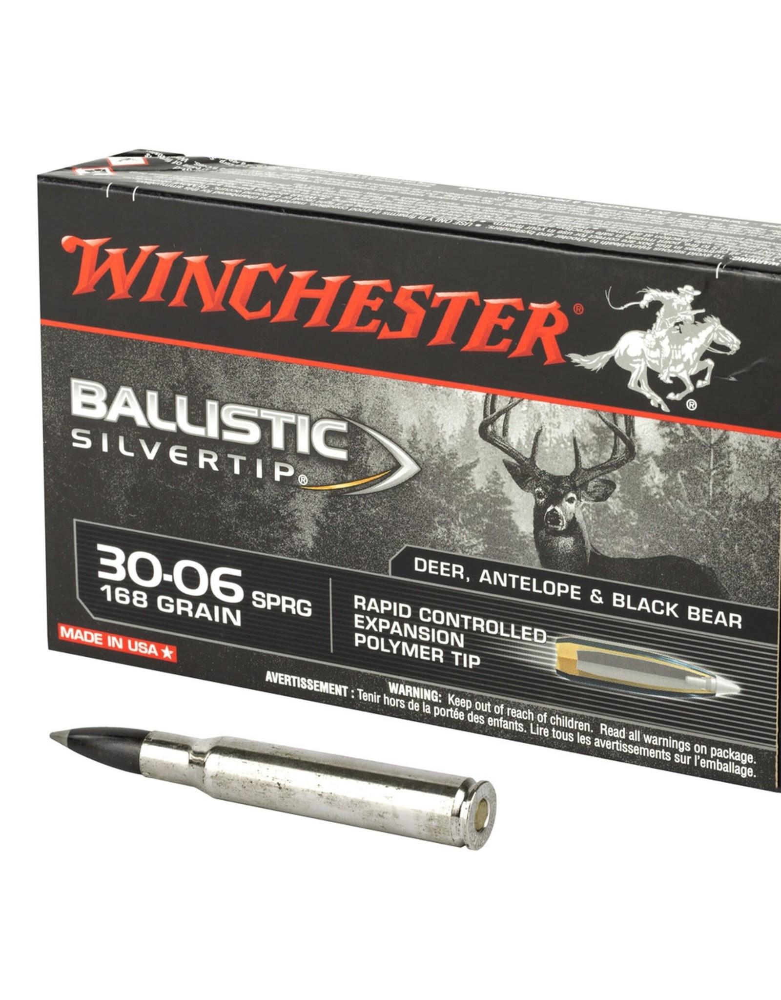 Winchester 30-06 Ballistic Silvertip 168 GR