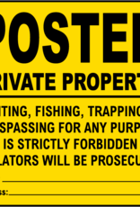 HME Posted Private Property Signs 12 Pack