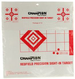 Champion Champion 47388 Redfield Style Sight-In Targets 10 Pack
