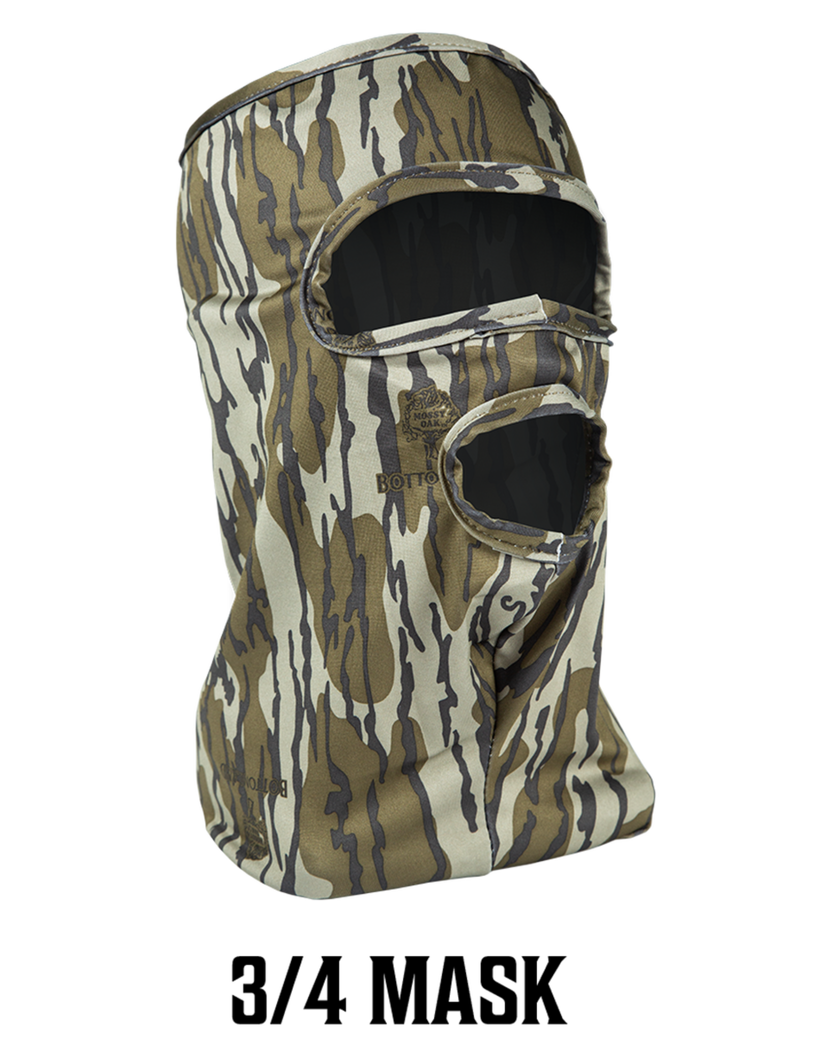 Primos 3/4 Mask Stretch Fit Mossy Oak Bottomland