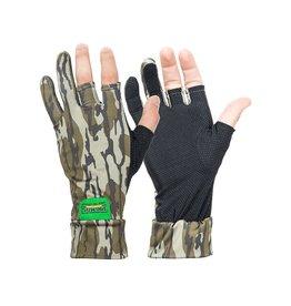 Primos Stretch Fingerless Sure Grip Gloves Mossy Oak Bottomland