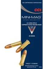 CCI 22 LR Mini-Mag Target Copper-Plated Round Nose 40 GR