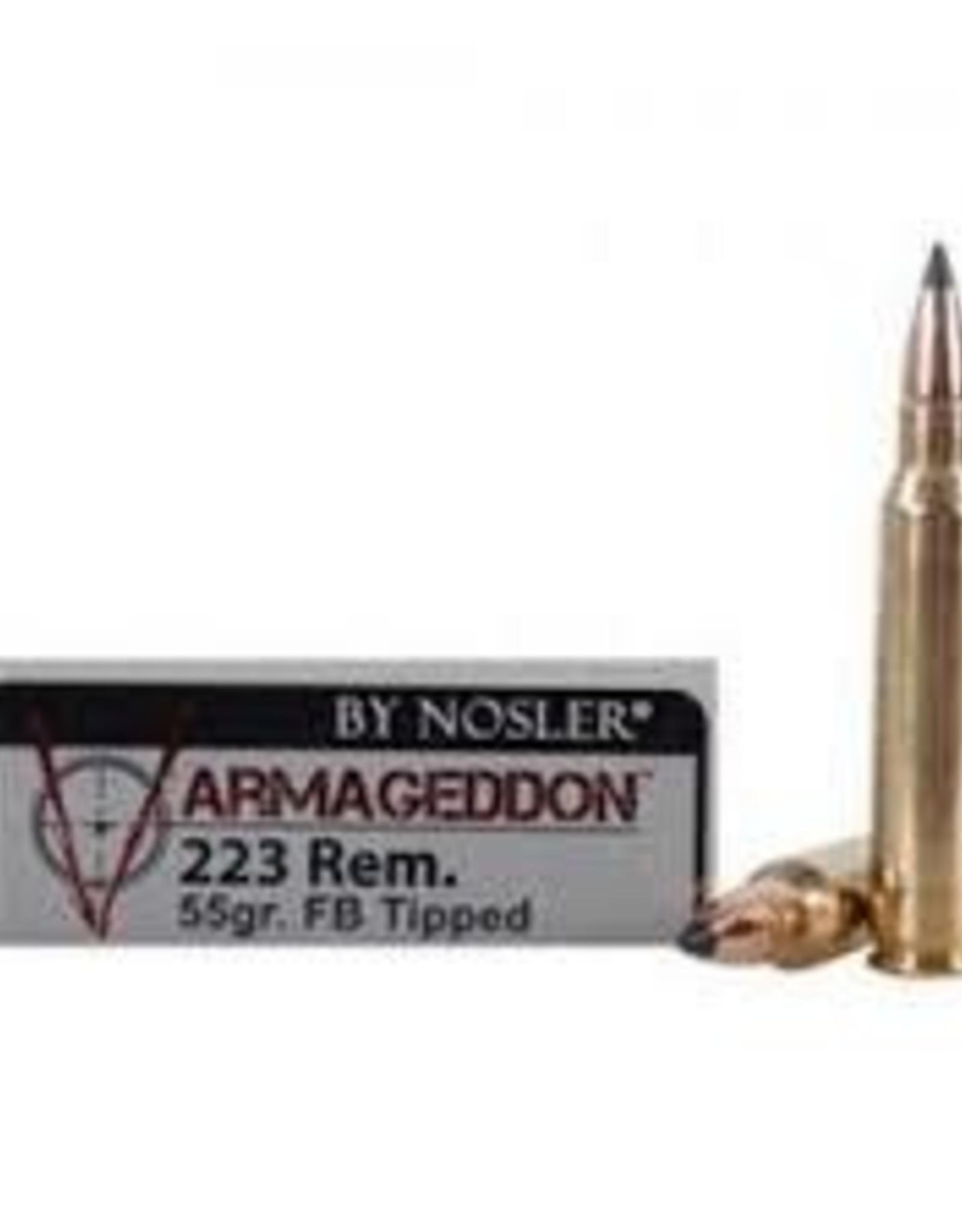 Nosler 223 Rem 55gr FB Tipped