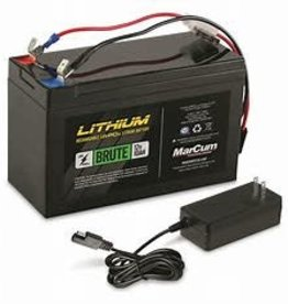 Marcum 12V 10AH LifePO4 Battery amd 3amp Charger