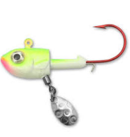NORTHLAND TACKLE THUMPER JIG 1/4 OZ, 2/CD GLOW WATERMELON