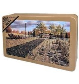 RIVERS EDGE Fall Plowing 1000 piece Puzzle in Tin