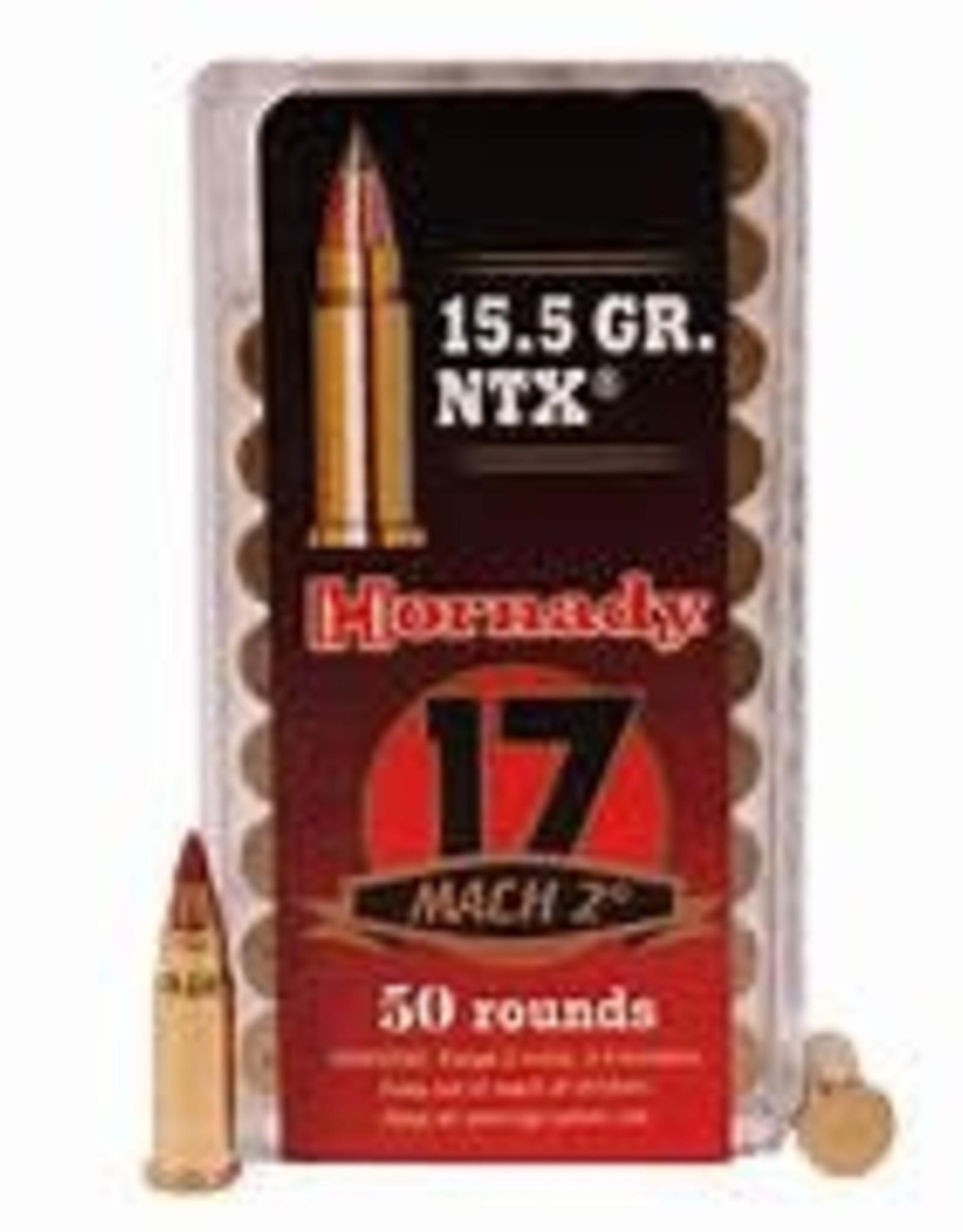 Hornady AMMO 17 MACH2 15.5 GR NTX