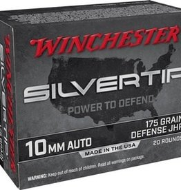 Winchester 10MM Auto Silvertip Pistol 175 GR Defense JHP