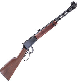 Henry Lever Rifle 22 LR, 18.25 in, Blued, Wood