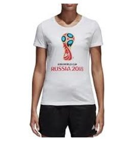 adidas adidas womens WORLD CUP T-SHIRT RUSSIA 2018 WHITE