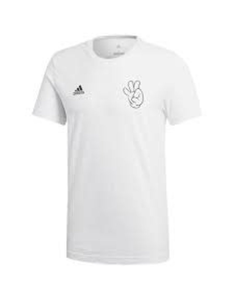 adidas adidas mens WORLD CUP MASCOT INSPIRED T-SHIRT 17/18 WHITE