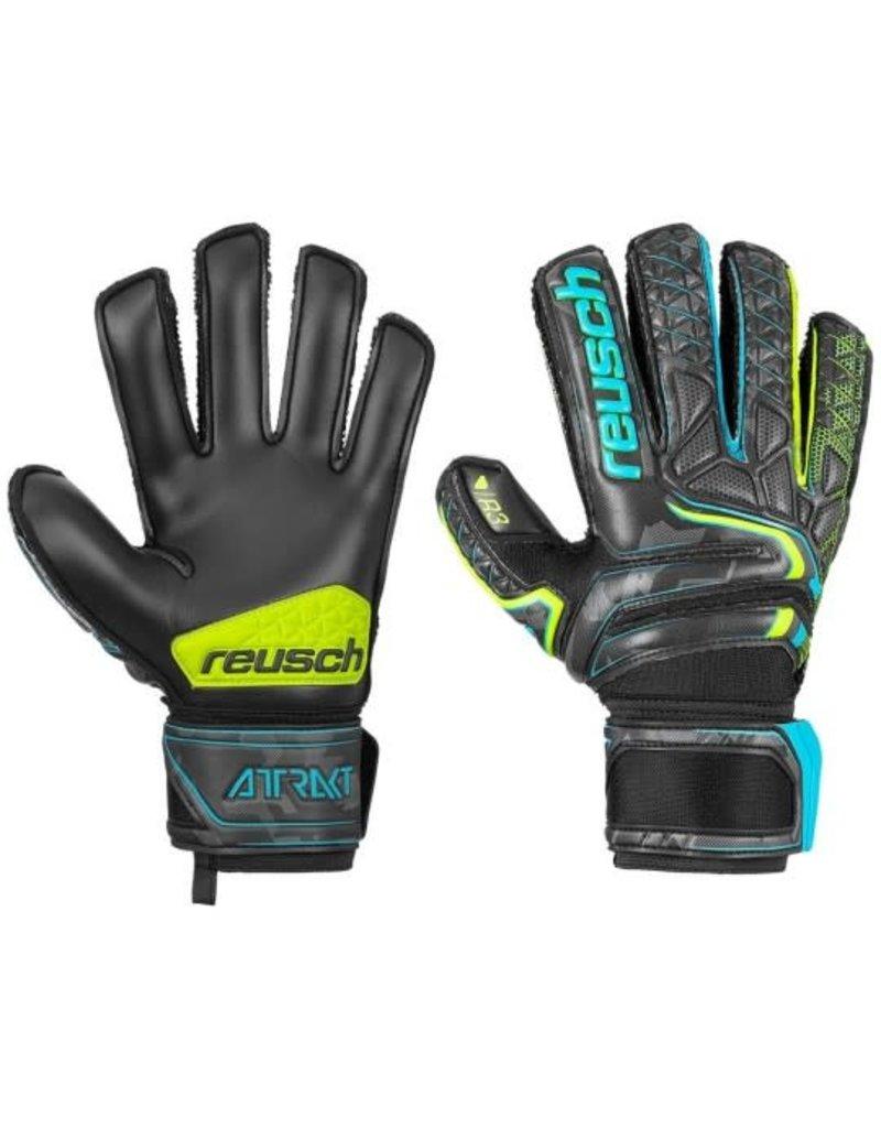 Reusch Reusch Attrakt R3 Finger Support BLK/YEL/BLU