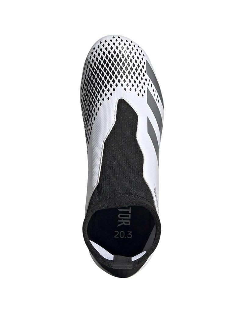 adidas adidas Predator 20.3 Lace Less FG J White/Silver