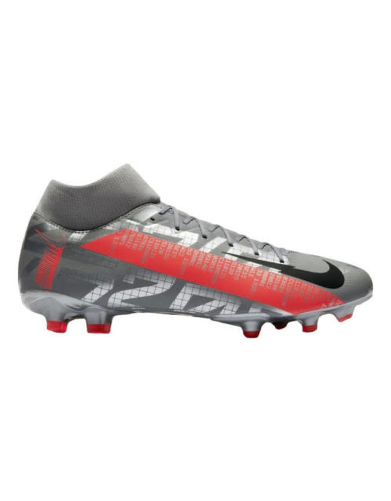 Nike Nike Mercurial Superfly VII Academy Multi-Ground Cleats (Grey/Crimson)
