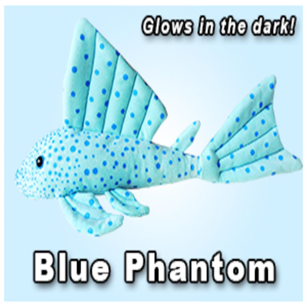 """Green Pleco 12"""" Blue Phantom Pleco Plushie"""