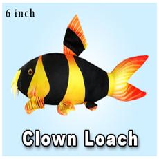 """Green Pleco 6"""" Clown Loach Plushie"""