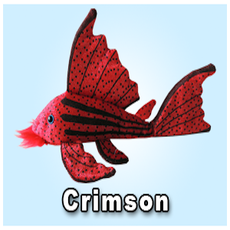 "Green Pleco 12"" Crimson Pleco Plushie"
