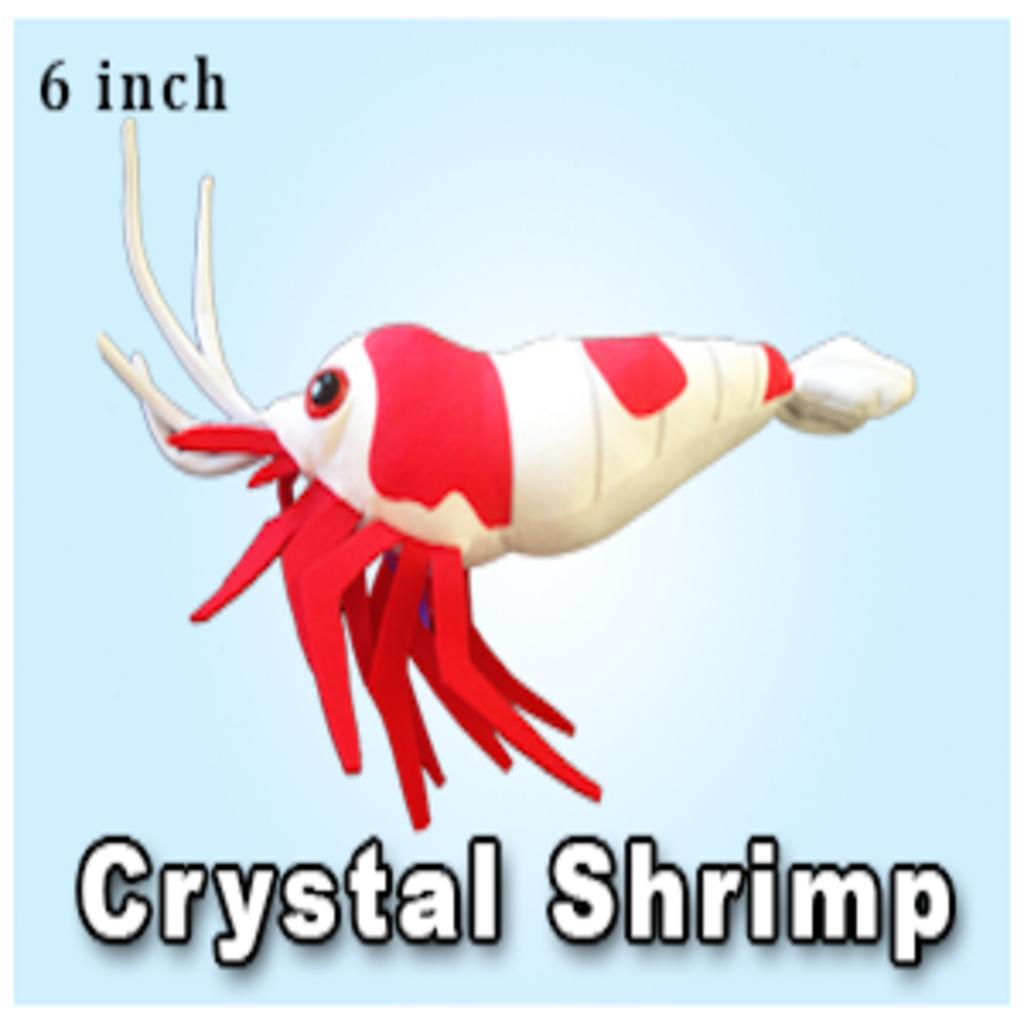 "Green Pleco 6"" Crystal Shrimp Plushie"