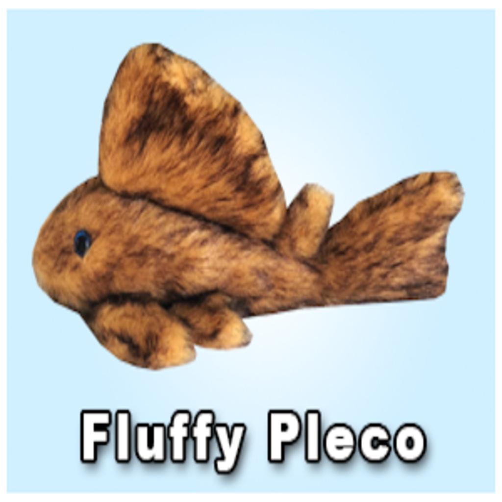 """Green Pleco 12"""" Fluffy Pleco Plushie"""