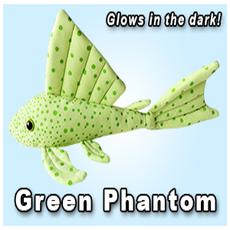 """Green Pleco 12"""" Green Phantom Pleco Plushie"""