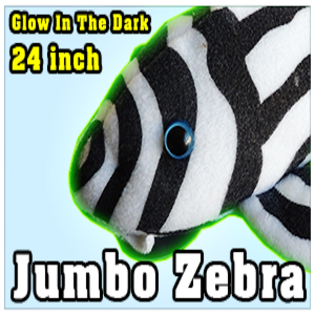 """Green Pleco 24"""" Jumbo Zebra Pleco Plushie"""